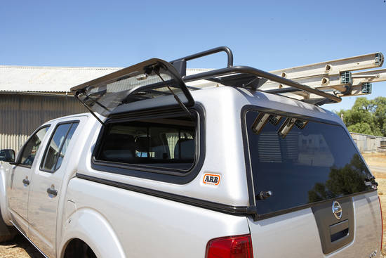 ARB TOURING CANOPY FOR NISSAN NAVARA D40 05 ON DC FLAT ROOF LIFT UP WINDOWS & ARB Touring Canopy for Nissan Navara D40 05 on DC flat roof ...